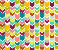 triangle clouds multi-color on grey - cristinapires - Spoonflower