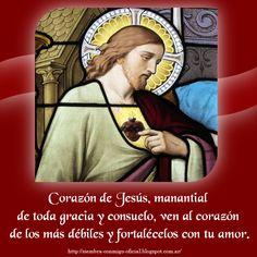 Spanish Prayers, Dear God, Hearts, Pictures, God, Saints, Sacred Heart, Daily Prayer, Faith In God