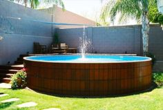Amazingly Tank Pool Design For Simple Pool Inspiration Apartment Designed and constructed to secure you barreled. Premier Pools and Spas offers a myriad of distinctive and exciting features for your pool. Oberirdischer Pool, Swimming Pool Decks, Diy Pool, Above Ground Swimming Pools, Swimming Pool Designs, In Ground Pools, Intex Above Ground Pools, Intex Pool, Above Ground Pool Landscaping