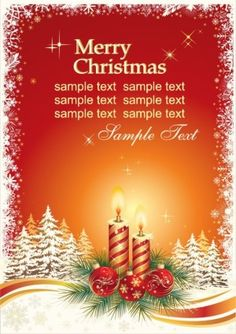 Weihnachtskarte Vector Vorlage