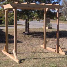 TMP Outdoor Furniture Large Cedar Pergola Arbor Swing Frame
