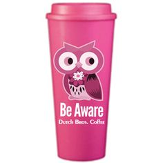 Dutch Bros Coffee October Breast Cancer Awareness limited edition coffee mug. Isn't she pretty?