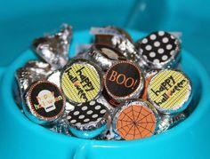 Hershey Kiss Candy Stickers -DIY- Happy Halloween
