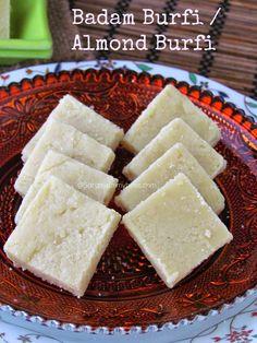 Almond Burfi / Badam Burfi #diwali #burfi #indian