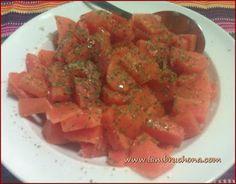 LAMBRUCHONA. Zanahorias cocidas y aliñadas con ajo y aceite de oliva.
