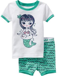 Mermaid PJ Sets for Baby Product Image