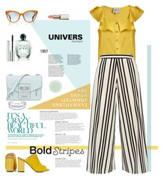 """""""Graphic Striped Pants"""" by ellie366 ❤ liked on Polyvore featuring Sea, New York, Alice + Olivia, Proenza Schouler, Topshop, Catherine Malandrino, Oliver Peoples, KAROLINA, Giorgio Armani, Nails Inc. and Clinique"""