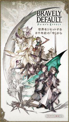 iPhone スクリーンショット 1 Game Design, Web Design, Bravely Default, Gaming Banner, Japan Games, Type Setting, Game Ui, Cover Design, Character Design