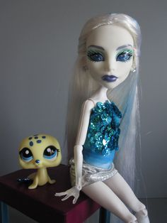 monster high ooak doll and pet