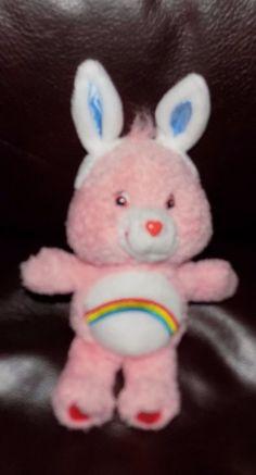 "8"" 2004 Play Along PLUSH Care Bears CHEER BEAR w/ Bunny Ears #PlayAlong"