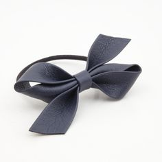 Handmade Artificial Leather Bow Hair Elastics Ponytail Holder  #style #womenaccessory #hairaccessories #shop #gift #veryshine #hairaccessory #bowhairties #bowhairelastic