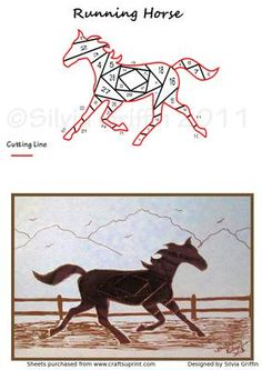 Running Horse on Craftsuprint designed by Silvia Griffin - Any hose lover in your circle of Friends and family would surely love to receive this lovely filly. Thank You for considering my creations. - Now available for download!