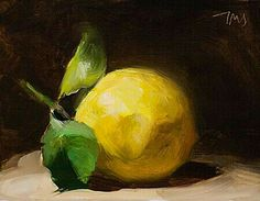 Daily painting Postcard from Provence, a painting a day by Julian Merrow-Smith; paintings fresh daily from the British painter's studio in Provence Lemon Painting, Fruit Painting, Lemon Art, Still Life Fruit, Daily Painters, Painting Still Life, Fruit Art, Mellow Yellow, Art Oil