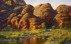 The Bungle Bungles, Australia, 2014 Oil on Belgian Linen, Painting by Andrew Tischler www.andrewtischler.com
