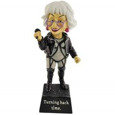 WL SS-WL-12966 Turning Back Time Biddy Rocker Chic Bobble Figurine, 6.75' >>> Unbelievable product right here! : Christmas Decorations