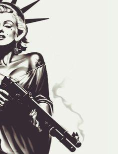guns for women Aesthetic Backgrounds, Aesthetic Iphone Wallpaper, Aesthetic Wallpapers, Arte Do Hip Hop, Hip Hop Art, Arte Marilyn Monroe, Gangsta Tattoos, Bad Girl Wallpaper, Indie Art