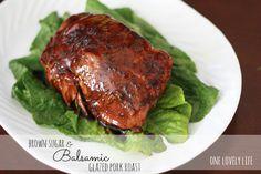 Brown Sugar & Balsamic Glazed Pork Roast I One Lovely Life
