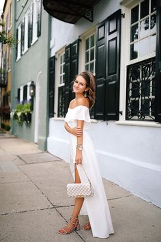 white maxi romper in Charleston