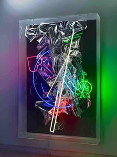 Anselm Reyle german artist, loves and works in Berlin. Abstract Sculpture, Sculpture Art, Anselm Reyle, Painting On Photographs, Modern Art, Contemporary Art, New Media Art, All Of The Lights, Installation Art