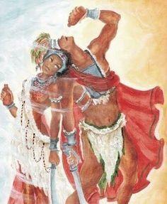 Ogum e Iansã - Orixás são ancestrais divinizados africanos que correspondem a pontos de força da Natureza e os seus arquétipos estão relacionados às manifestações dessas forças. - linhadasaguas.com.br