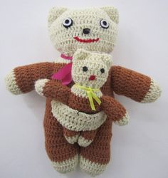 Bear and Baby Bear - Brown and White $15