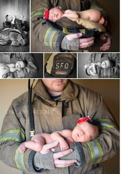 Firefighter Newborn Session by Lindsey Caroon Photography