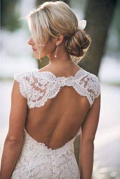 lovely backless wedding dresses