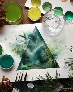 green, art, and triangle image