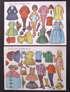 Vintage Paper Dolls, Anime Angel, Diy And Crafts, Nostalgia, Printables, Retro, Grande, Fictional Characters, Yuri