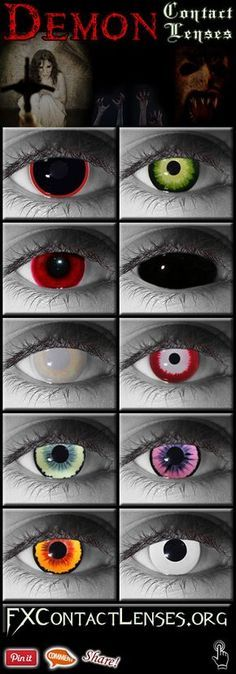b4edc97b52665 Demon Contact Lenses - Demon Eye Contacts in Prescription and Non  Prescription Versions. Scleral Black Lens, White Out Eyes, and other  Demonic Evil Colors.