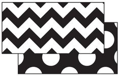 BLACK & WHITE ZIG ZAG DOUBLE SIDED BORDER - Classroom Decorations  | Frog Street Press