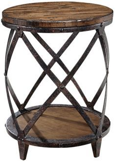 Barrel Accent Table- cool idea for the basement