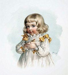 Дети на винтажных картинках и открытках. Художница Maud Humphrey