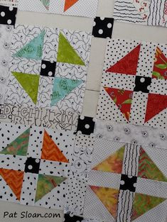 Easy pattern for using those scraps via Pat Sloan.  Picture tutorial.