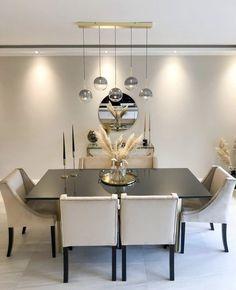 Home Room Design, Dining Room Design, Home Interior Design, Decor Home Living Room, Home Decor Kitchen, Luxury Dining Room, Dining Room Inspiration, Apartment Interior, Furniture Shopping