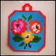 Flowers ornament hama beads by revedeboheme