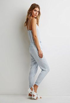 Contemporary Drawstring Cami Jumpsuit