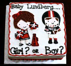 katycakes Texas Tech gender reveal cake