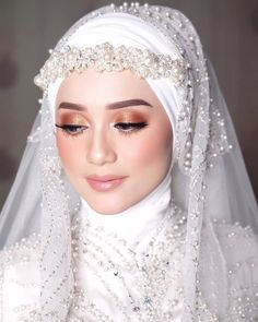 Hijabi Wedding, Kebaya Wedding, Muslimah Wedding Dress, Hijab Style Dress, Muslim Wedding Dresses, Hijab Bride, Muslim Brides, Dream Wedding Dresses, Hijab Chic