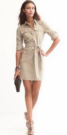 Платье сафари модели