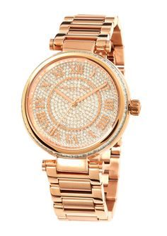 MICHAEL KORS Rose Gold Ladies Pave Crystal Bracelet Watch Michael Kors Sale, Michael Kors Rose Gold, Michael Kors Watch, Jewelry 2014, Fine Jewelry, Crystal Bracelets, Designer Collection, Gold Watch, Bracelet Watch