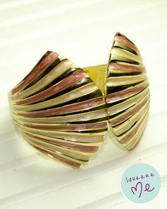 Bracelete Art Decó Rosê - R$ 59,90    Disponível na nossa loja virtual: http://bzz.ms/bracdecorose