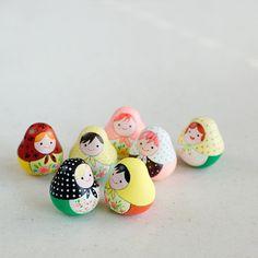 Polymer Clay Abbildung Miniatur Matrjoschka von JooJooTreasures