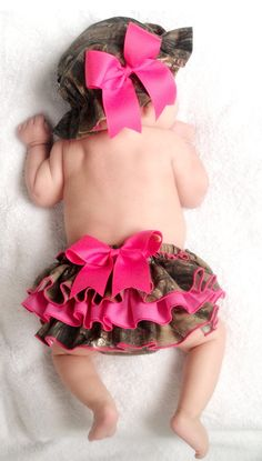 Hot Pink and Camo Diaper Cover. $32.00, via Etsy.