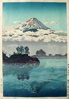 Fuji in Clouds, by Tsuchiya Koitsu.