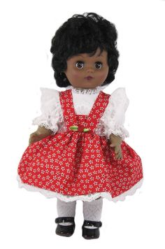 """12"""" Red Floral Doll Dress for Goodfellow Dolls"""