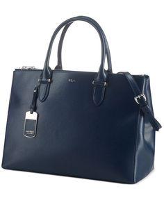 Lauren Ralph Lauren Handbag, Newbury Double Zip Satchel Next one day sale at Macy's and I am getting this.