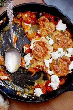 to try: Tomato and Goat Cheese Cobbler