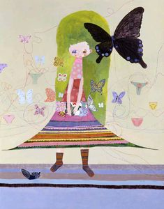 """Chinatsu Ban, """"Meeting at Flapping Underpants"""" Japanese Pop Art, Japanese Artists, Art And Illustration, Cool Abstract Art, Arte Inspo, Reading Art, Sketchbook Inspiration, Arte Pop, Surreal Art"""