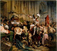 Vainqueurs de la Bastille Paul Delaroche circa 1835 - Paul Delaroche — Wikipédia